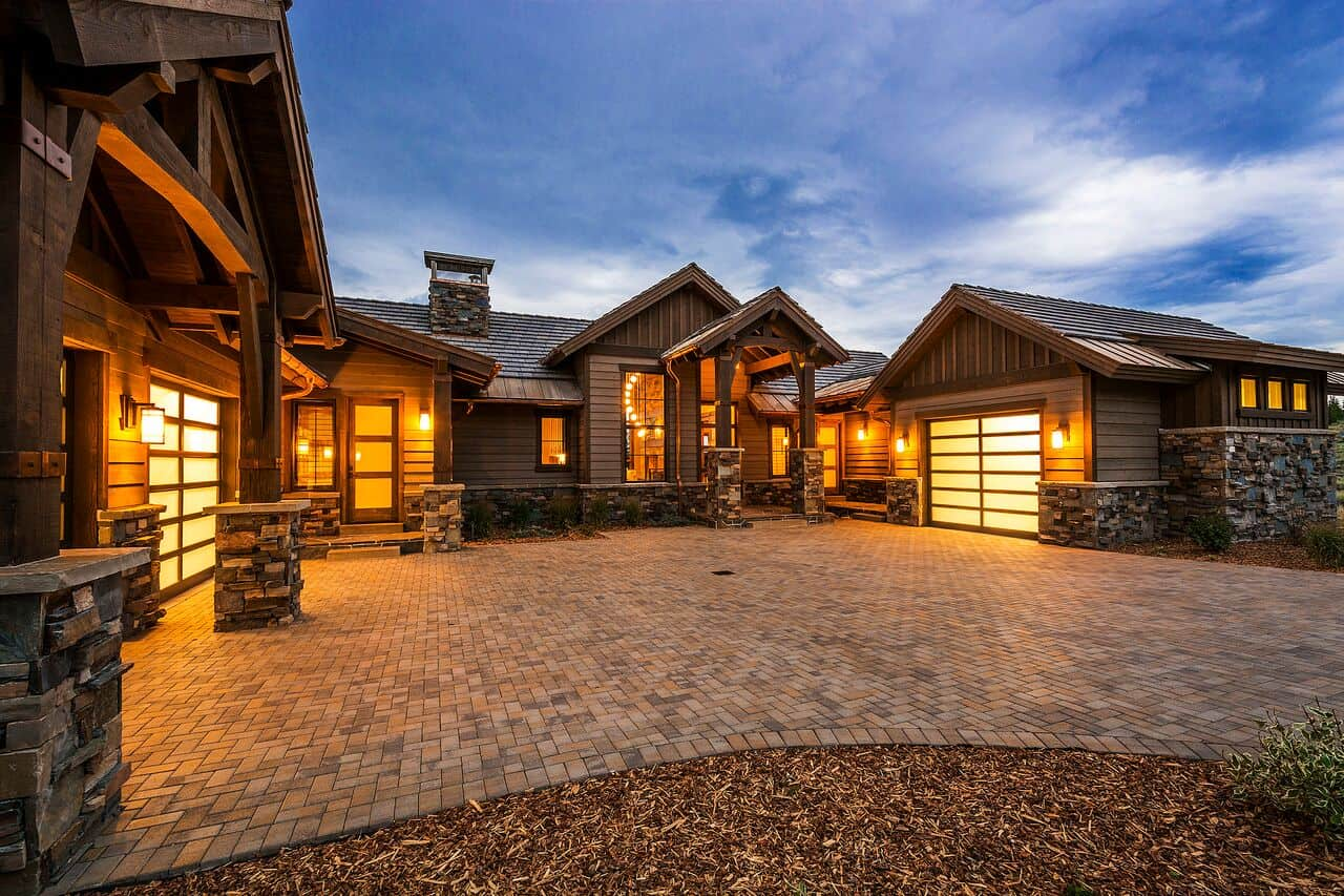 custom homes designs. Glenwild Rambler  Park City Exterior Front of House Lane Myers Construction Utah