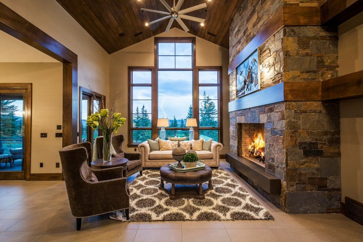 Glenwild Rambler - Park City Great Room Fireplace