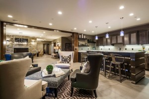 Glenwild Rambler - Park City Interior Custom Home Living Room