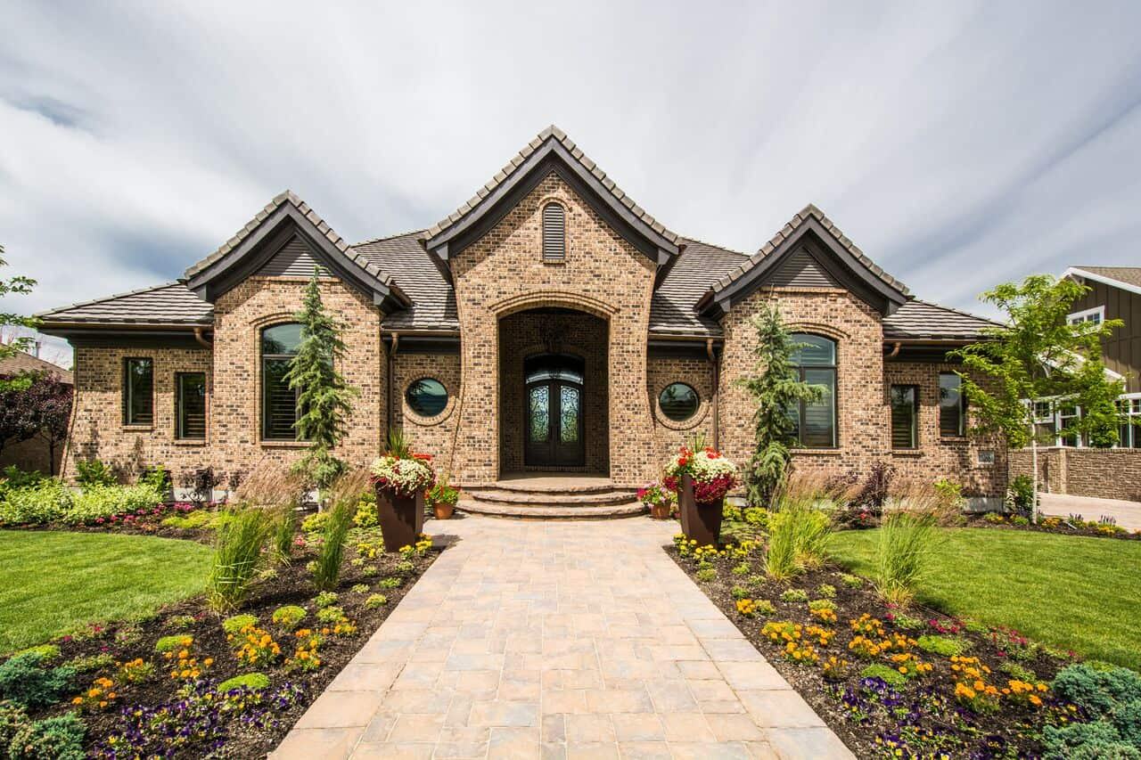 Custom Home Exteriors Model mont royal – south jordan – lane myers construction | utah custom
