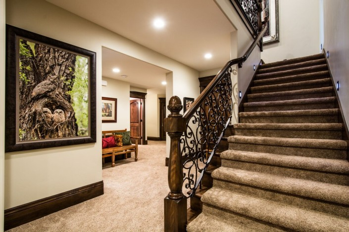 Mont Royal - South Jordan Custom Home Interior stairs