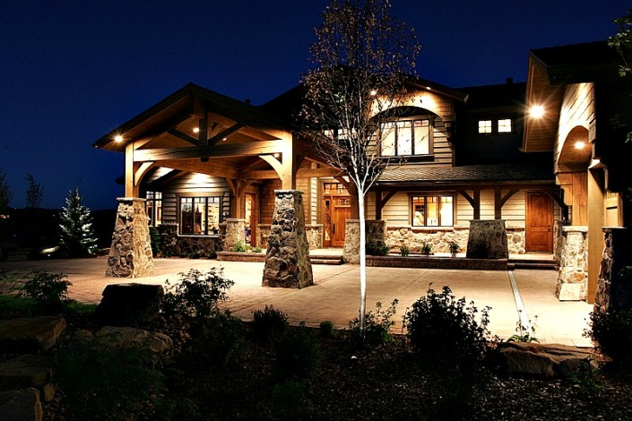 Mountain Ranch Exterior Night