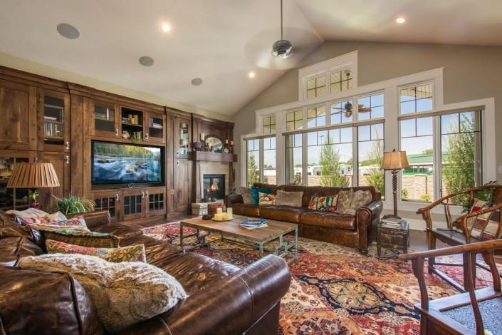 Nelson Farms Custom Home Livingroom