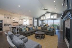 Northbridge - St. George Interior Living Room Custom Home