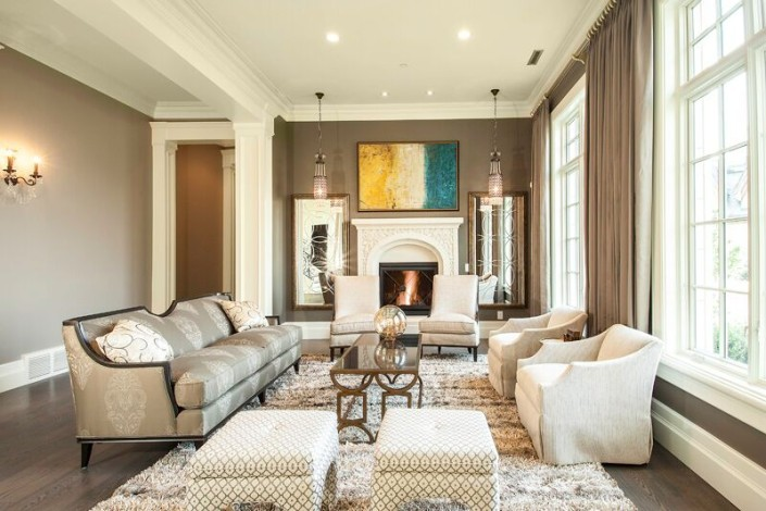 Parade of Homes - Draper Utah Custom Home Living Room