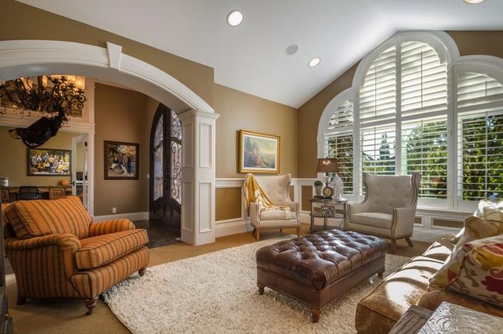 Polo Club Court - South Jordan Custom Home Interior Sitting Room