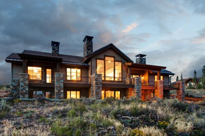 Promontory Rambler - Park City Custom Home Exterior View front of home
