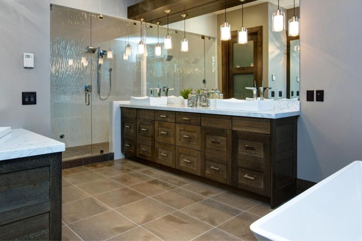 Promontory Rambler - Park City Custom Home Interior Bathroom with walkin shower