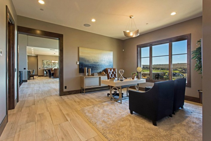 Promontory Rambler - Park City Custom Home Interior Office