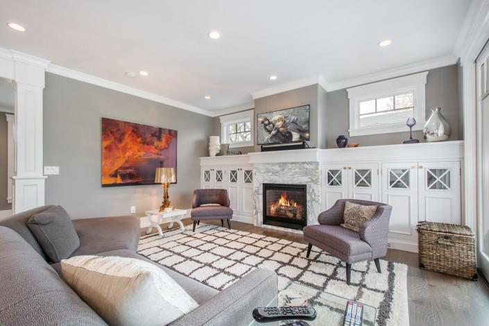 The Avenues - Salt Lake Custom Homes Interior Livingroom with Fireplace