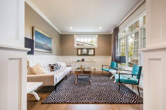 The Avenues - Salt Lake Custom Homes Interior Sitting Room