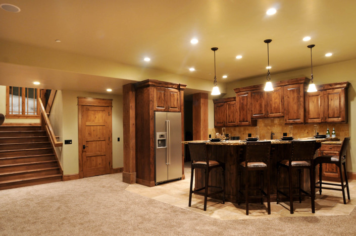 Holly Hock Interior Basement Wet Bar