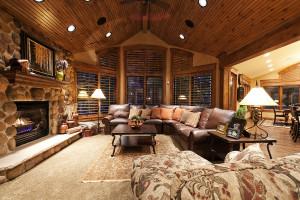 Oakley Cabin Fireplace Great Room