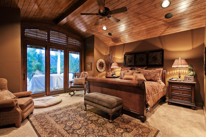 Oakley Cabin Master Bedroom
